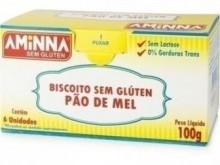 Foto do produto Biscoito Pão de Mel 100g - Aminna