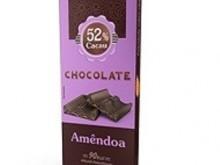 Foto do produto Chocolate 52% sem Açúcar Amêndoa 20g - Flormel