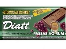 Foto do produto Chocolate Diet Passas ao Rum 30g - Diatt